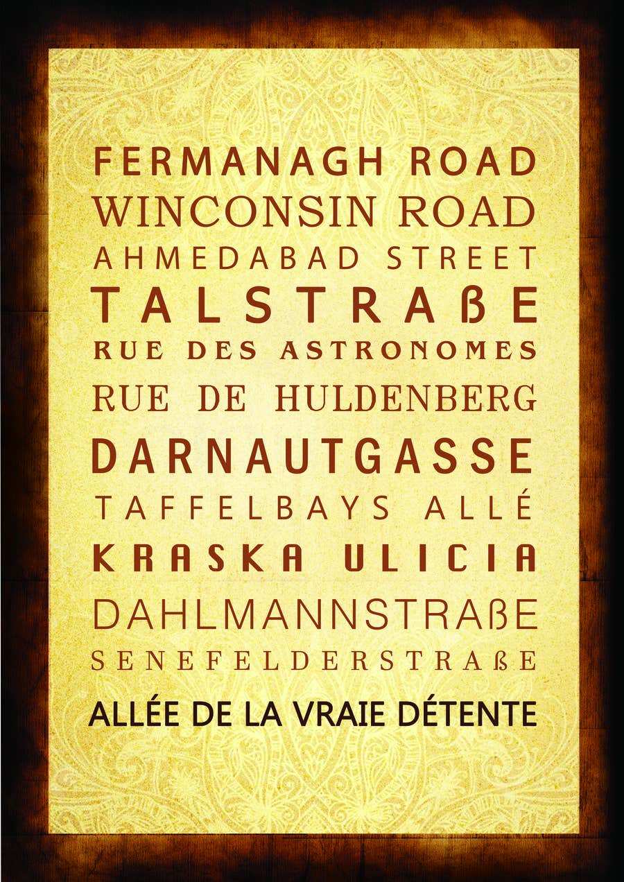 Contest Entry #31 for Clean, simple text based poster for printing: Street names using nice fonts