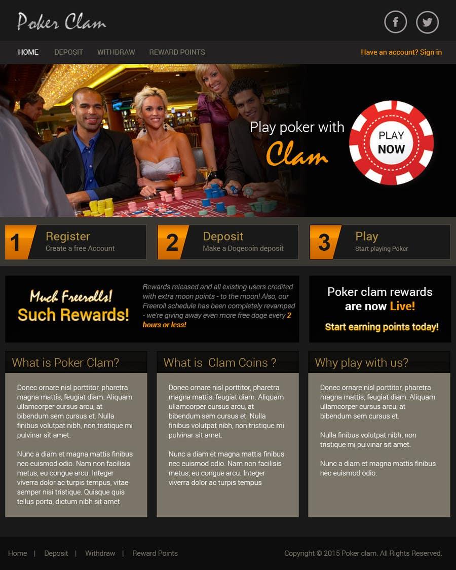 Konkurrenceindlæg #                                        6                                      for                                         Design a poker website + BONUS