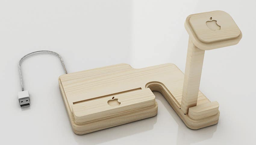 Bài tham dự cuộc thi #30 cho Design and Create a 3d iwatch wooden prototype
