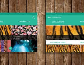 #7 para App Mockup for a Graphic Design Showcase por MohanYadav1995