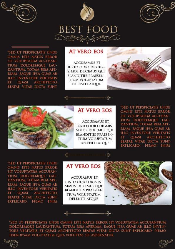 Inscrição nº 7 do Concurso para best food brochure