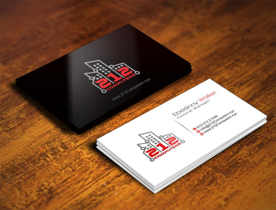 Contest Entry #                                        43                                      for                                         Design some Business Cards for 212 computers