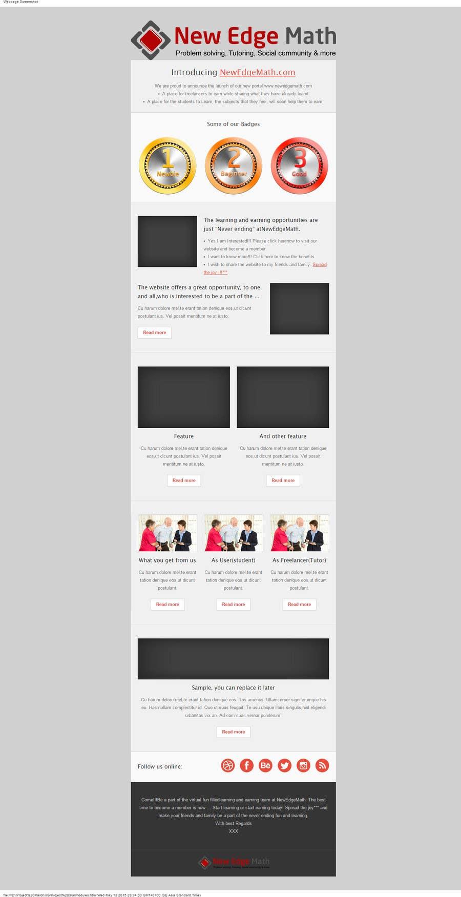 Konkurrenceindlæg #                                        11                                      for                                         Design email template and rewrite email content