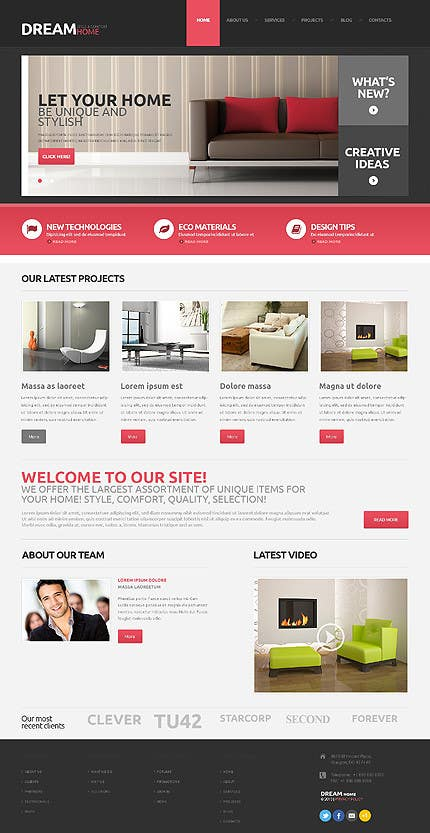 Entry #14 by Decomex for Design a Wordpress Mockup for Home Staging on