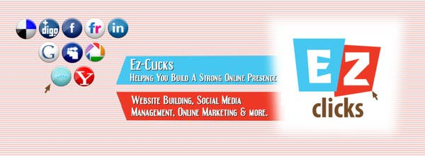 #13 for Design a Cool Banner For Ez-Clicks by vigneshhc