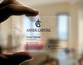 #74 para Design some Business Cards for Asher Capital por aminur33