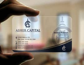 #154 para Design some Business Cards for Asher Capital por aminur33
