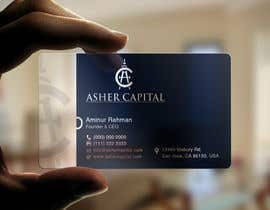 aminur33 tarafından Design some Business Cards for Asher Capital için no 155