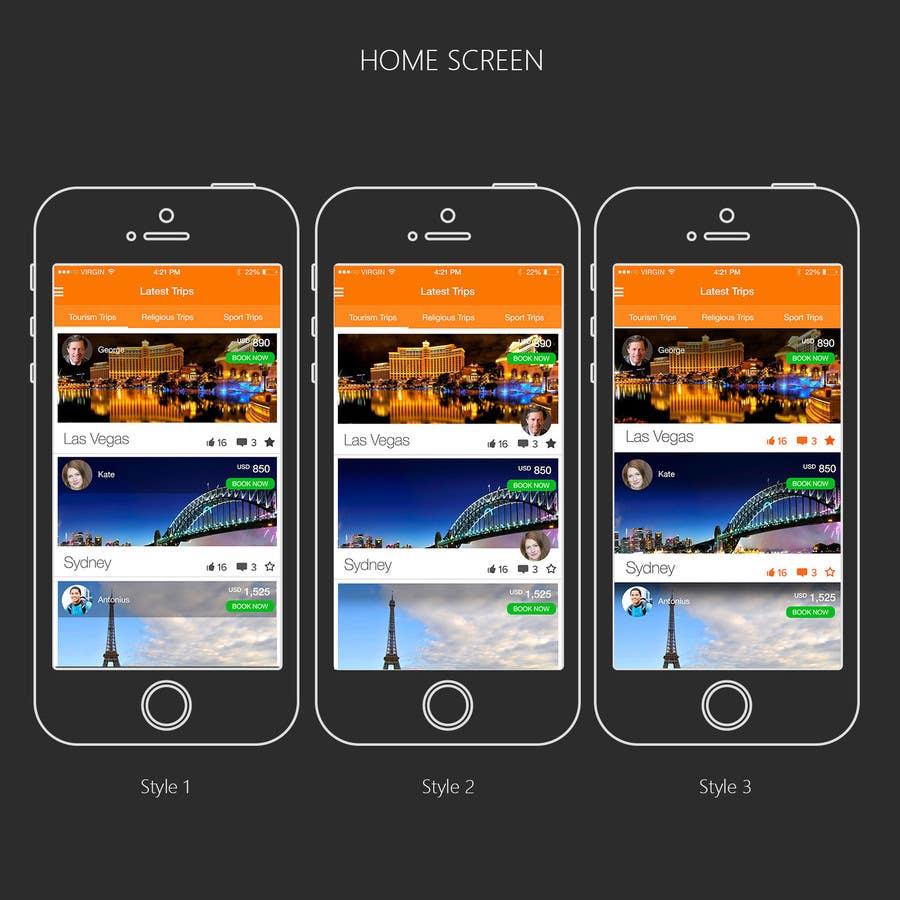 Kilpailutyö #21 kilpailussa Design an App Mockup