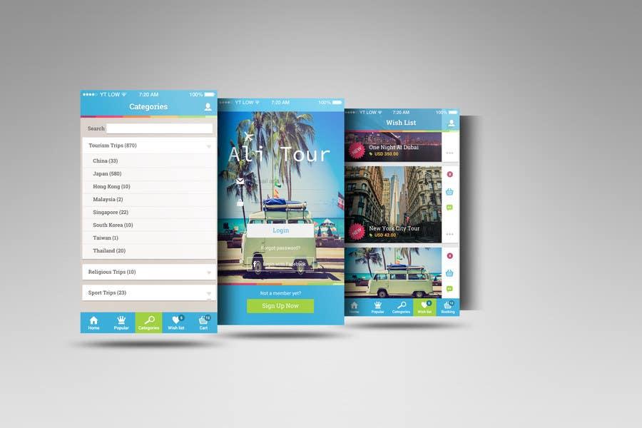 Kilpailutyö #4 kilpailussa Design an App Mockup