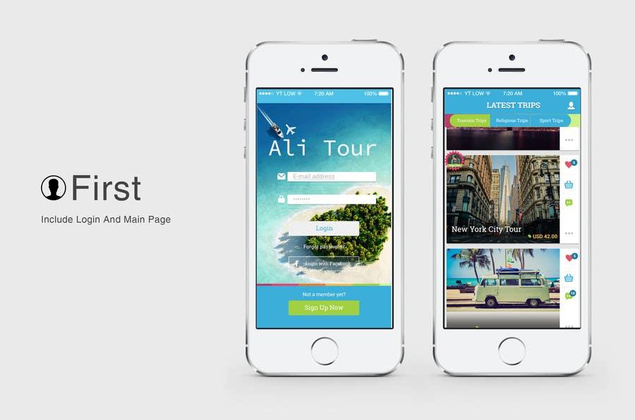 Kilpailutyö #18 kilpailussa Design an App Mockup