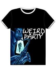 Nro 22 kilpailuun Design a T-Shirt for the band Weird Party käyttäjältä Nihadricci