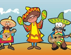 #10 untuk Illustration of 3 Cartoon Mexican Guys oleh aarpum18
