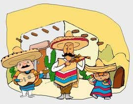 #17 for Illustration of 3 Cartoon Mexican Guys by repramana
