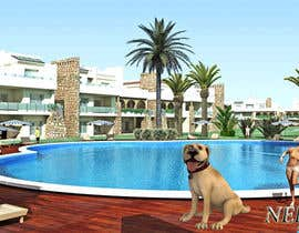 #10 untuk Create an animated dog next to a pool oleh nefixsolutions