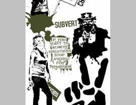 #7 untuk Skateboard collage style design with an anarchy theme (pictures provided) oleh seteki