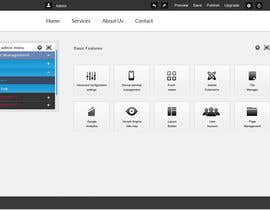 helixnebula2010 tarafından Design a Website Mockup for control panel menu için no 5