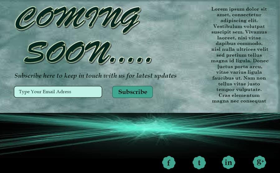 Penyertaan Peraduan #20 untuk Design a Coming Soon page for selling in Themeforest