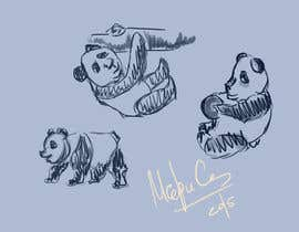 #1 para Draw 3 rough sketches/outlines (can be a picture of pencil on paper) of a Red Panda in fun poses por Jus7y