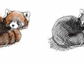 #11 para Draw 3 rough sketches/outlines (can be a picture of pencil on paper) of a Red Panda in fun poses por dngminh