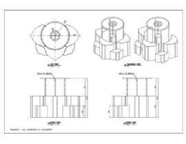 #31 untuk 3D flower stand in AutoCad oleh Kriwil10