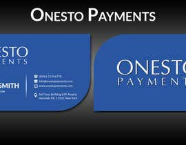 #3 untuk Design business card for Onesto Payments oleh ghani1