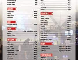 Nro 12 kilpailuun Design a drink menu for a bar käyttäjältä teAmGrafic