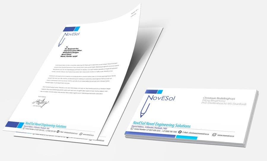 Entry #3 by binoysnk for Design a letterhead and business cards for