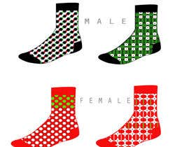 #47 untuk Sock Designs! Best 2 Designs (1 Male, 1 Female) Wins! oleh angelinatextile