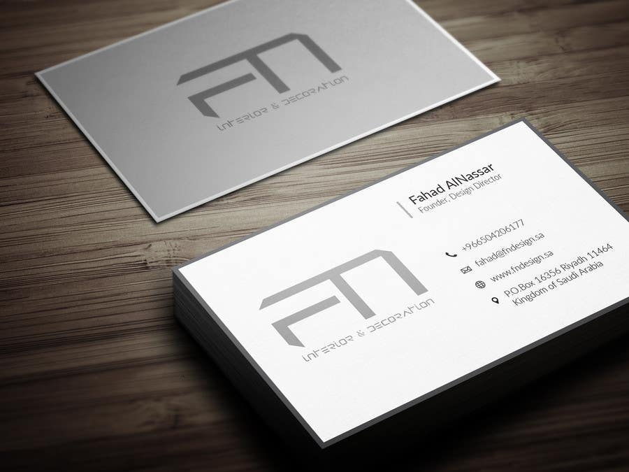 Design some business cards for an interior design firm freelancer for Interior designers business cards