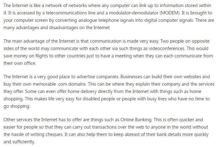 Bài tham dự cuộc thi #10 cho Write an article about internet (wifi) as an amenity