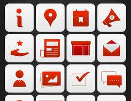 #28 untuk Design a range of Icons on a skinned background for a sporting app oleh noninoey