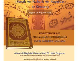 #10 cho Design a Flyer for Al Quran Memorisation Program bởi HebaWadud