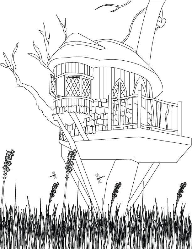 Konkurrenceindlæg #2 for A Coloring Book of Tree Houses
