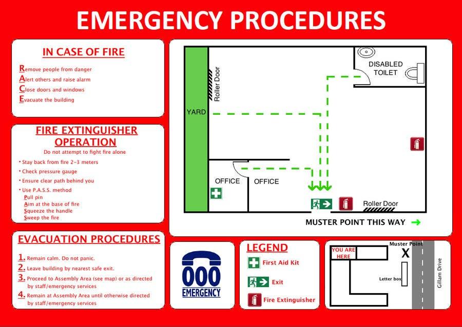 Penyertaan Peraduan #7 untuk emergency evacuation procedure