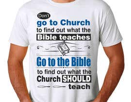 #21 for T-shirt design   9x12.75 Bible/Church af angelazuaje