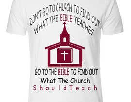#13 for T-shirt design   9x12.75 Bible/Church af dilukachinda
