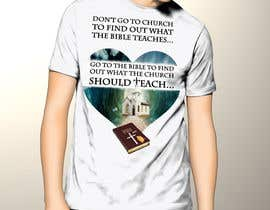 #6 para T-shirt design   9x12.75 Bible/Church por cida2job