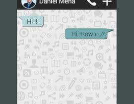 Nro 6 kilpailuun Illustrate  a mobile app wallpaper käyttäjältä danymena88