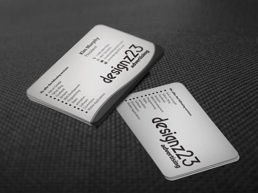 Kilpailutyö #206 kilpailussa Business Cards for marketing agency