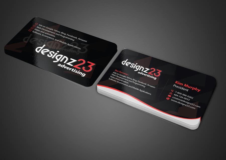 Kilpailutyö #220 kilpailussa Business Cards for marketing agency