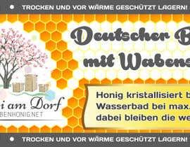 #14 untuk Design a bottle label (honey jar label) - Design eines flaschenetikett (honigglas etikett) oleh Serghii