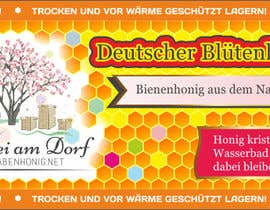 #15 untuk Design a bottle label (honey jar label) - Design eines flaschenetikett (honigglas etikett) oleh Serghii