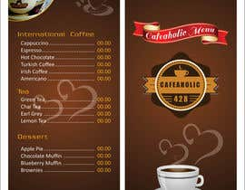 sandipdhanad tarafından Help me with designing a simple but effective cafe menu için no 8