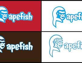 Nro 14 kilpailuun Apefish logo käyttäjältä orangethief