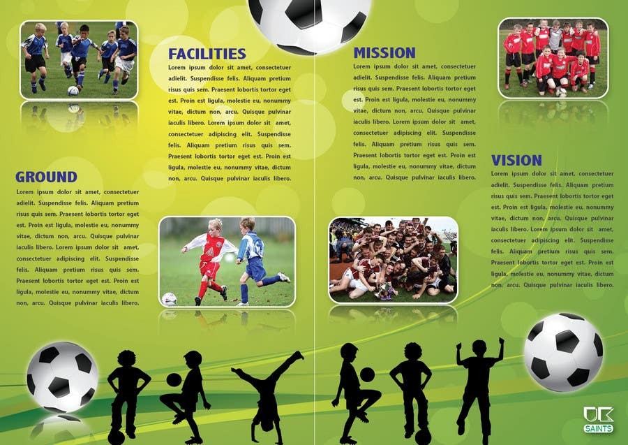 Contest Entry #27 for Graphic Design for uk saints brochure