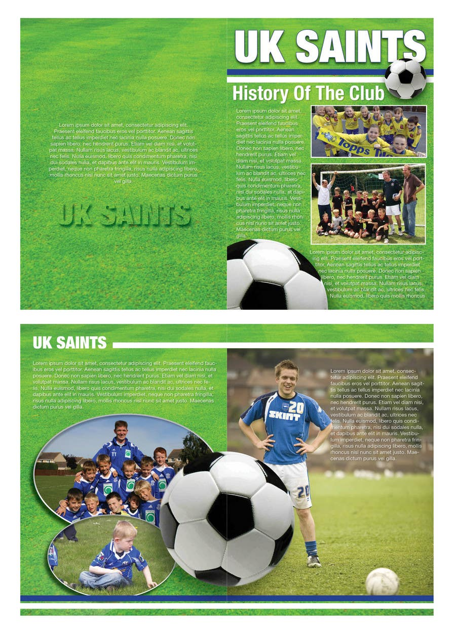 Contest Entry #3 for Graphic Design for uk saints brochure