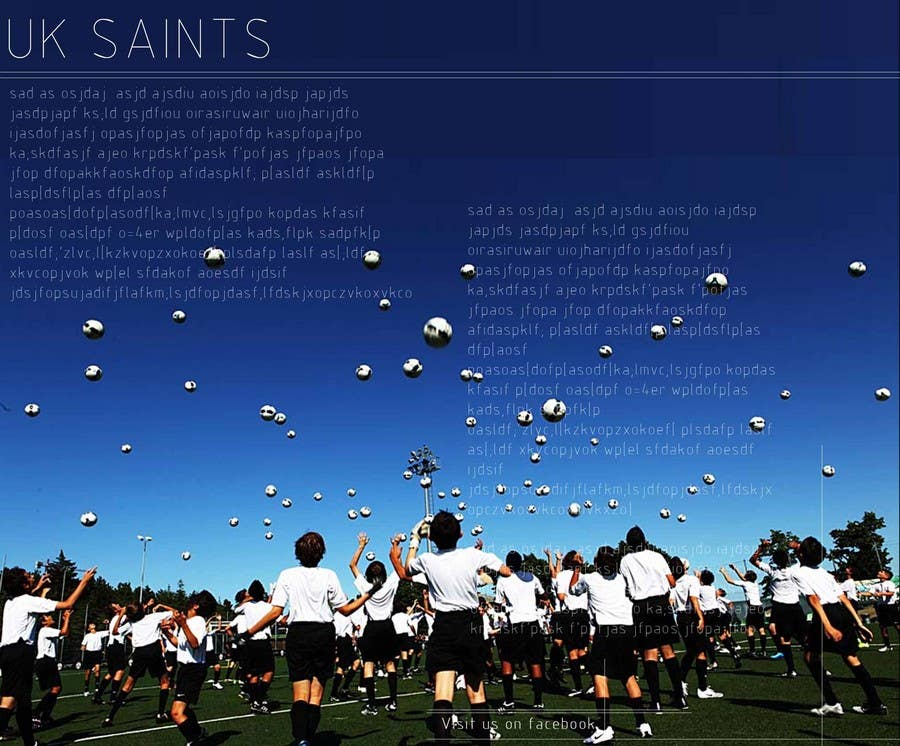 Contest Entry #26 for Graphic Design for uk saints brochure