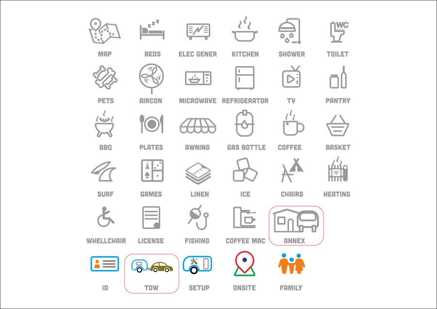 Kilpailutyö #25 kilpailussa Design some Icons for my website