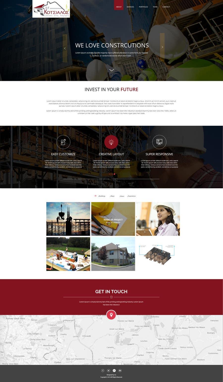 Kilpailutyö #7 kilpailussa Design a Website Mockup for small building company